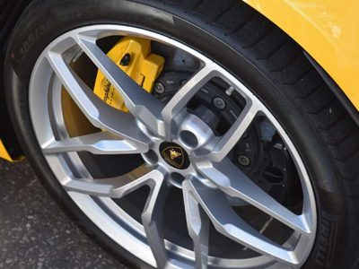 yellow car with black tyre